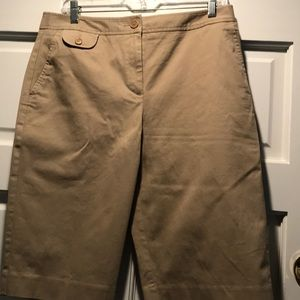 New Talbots khaki shorts.